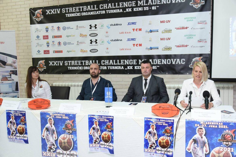 Održana konferencija za medije povodom predstojećeg  turnira Streetbal Mladenovc 2021 (video)